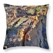 Colorful Wave Of Sandstone In Valley Of Fire State Park Throw Pillow
