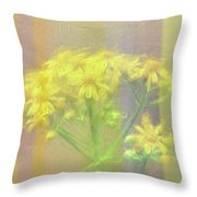 Colorful Wildflower Bouquet Throw Pillow
