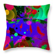 Colorful World Of A Fish Throw Pillow