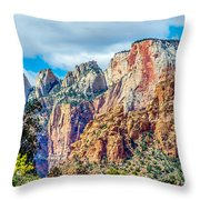 Colorful Zion Canyon National Park Utah Throw Pillow