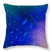 Colorfull Water Drop Background Abstract Throw Pillow