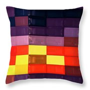 Colorfully Blocked Walls Throw Pillow