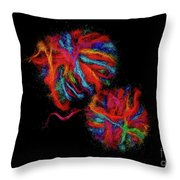 Colorfully Wound Throw Pillow