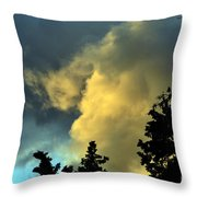 Coloring Clouds Throw Pillow
