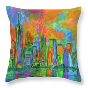 Coloring The Big Apple Throw Pillow