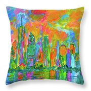 Coloring The Big Apple Stage One Throw Pillow