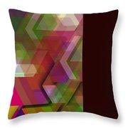 Dark Colorist Geometric Composition Throw Pillow