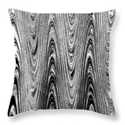 Colorless Wood Grain Throw Pillow