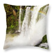 Colors Above The Water Throw Pillow