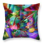 Colors And Geometries For A Violin  Throw Pillow