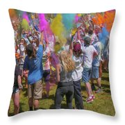 Colors Go Up Throw Pillow