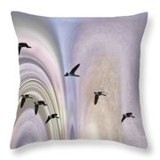 Colors In A Borealis Flyway Throw Pillow