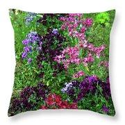 Colors In The Garden Throw Pillow
