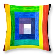 Colors Into One Throw Pillow
