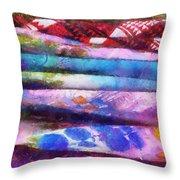 Colors Material Horizontal Pa 02 Throw Pillow