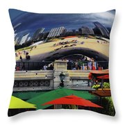 Colors N Curves Throw Pillow
