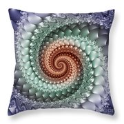 Colors Of A Spiral Throw Pillow