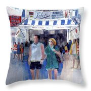 Colors Of A Summer - Jersey Shore Throw Pillow