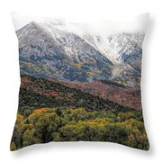 Colors Of Autumn On Mcclure Pass Throw Pillow