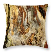 Colors Of Bark Throw Pillow