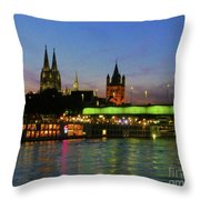 Colors Of Cologne Throw Pillow