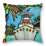 Colors Of Cruising Throw Pillow