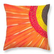 Colors Of Daisy Throw Pillow