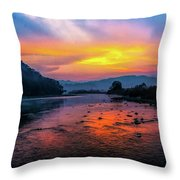 Colors Of Dawn Throw Pillow