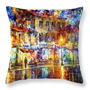 Colors Of Emotions - Palette Knife Oil Painting On Canvas By Leonid Afremov Throw Pillow