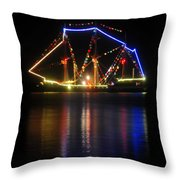 Colors Of Gasparilla Throw Pillow