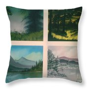 Colors Of Landscape 2 Throw Pillow
