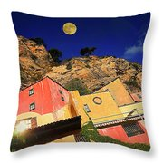 Colors Of Liguria Houses - Facciate Case Colori Di Liguria 3 Throw Pillow