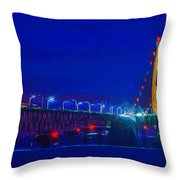 Colors Of Mackinac At Dusk Throw Pillow