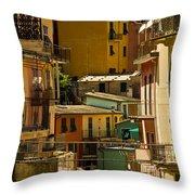 Colors Of Manarola Italy Throw Pillow