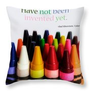 Colors Of Me Throw Pillow by Julia Wilcox