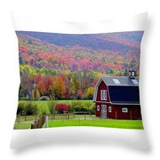 Colors Of New England Throw Pillow