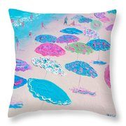 Colors Of The Beach Throw Pillow