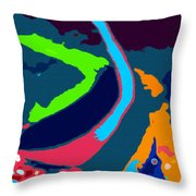 Colors Of The Coral Throw Pillow