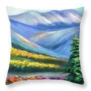 Colors Of The Mountains 2 Throw Pillow