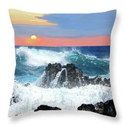 Colors Of The Ocean Throw Pillow