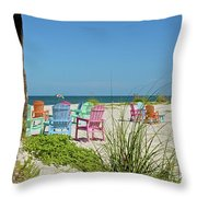 Colors Of The Seats Throw Pillow