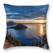 Colors Of The Spring Morning At Discovery Point Throw Pillow