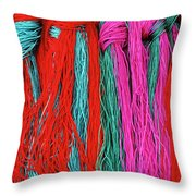 Colors Of Tibet Throw Pillow