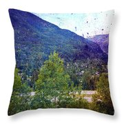 Colors Of Vail Throw Pillow
