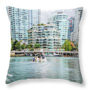 Colors Of Vancouver Throw Pillow