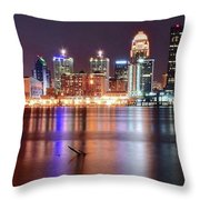 Colors On The Louisville Riverfront Throw Pillow