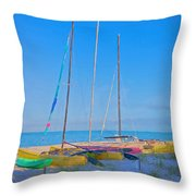 Colors On The Shore Throw Pillow