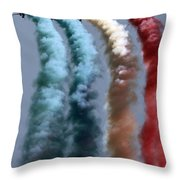 Colors On The Sky Throw Pillow