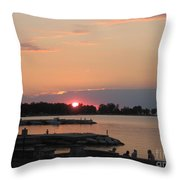 Colors On The Water Throw Pillow