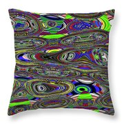 Colors Rolled And Flattened Abstract Throw Pillow